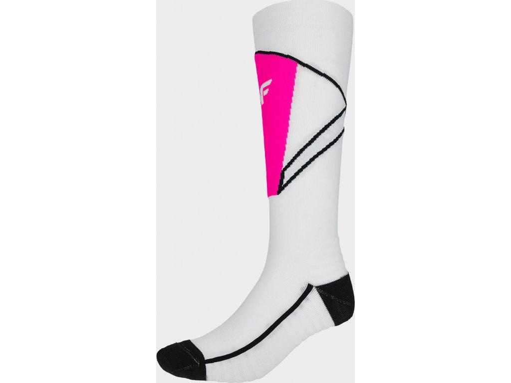 Dámske lyžiarske ponožky 4F SODN200 Biele
