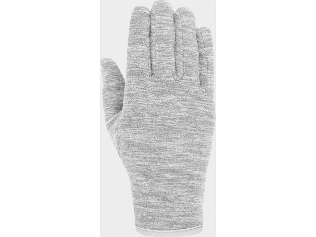 Fleecové rukavice 4F REU302 Šedé