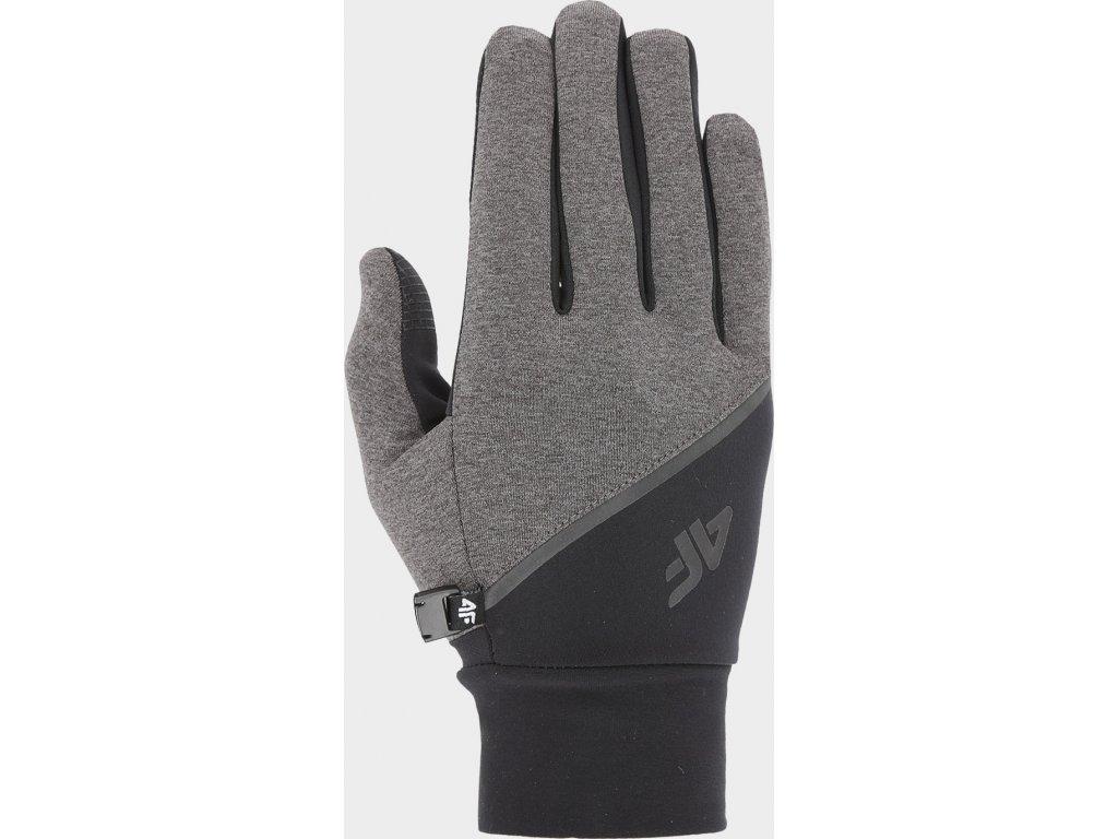 Běžecké rukavice 4F REU211 Šedé