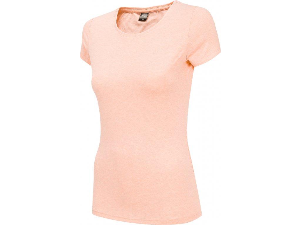 Dámske bavlnené tričko 4F TSD300 Ružové