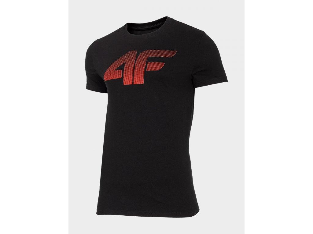 Pánské bavlněné tričko 4F TSM302 Černé