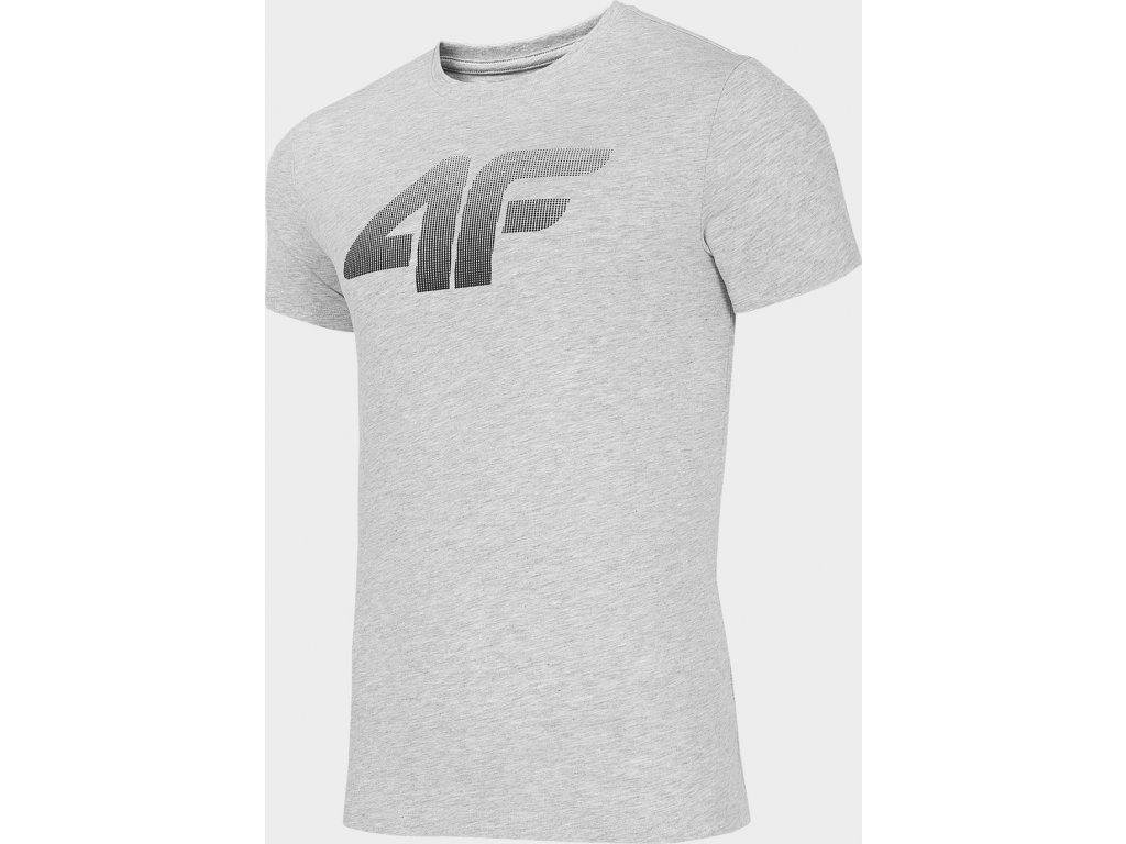 Pánské bavlněné tričko 4F TSM302 Šedé