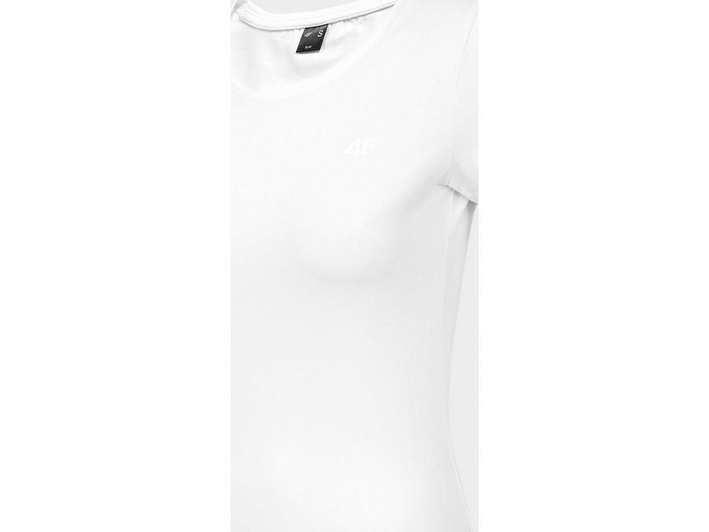 Dámske bavlnené tričko 4F TSD300 Biele
