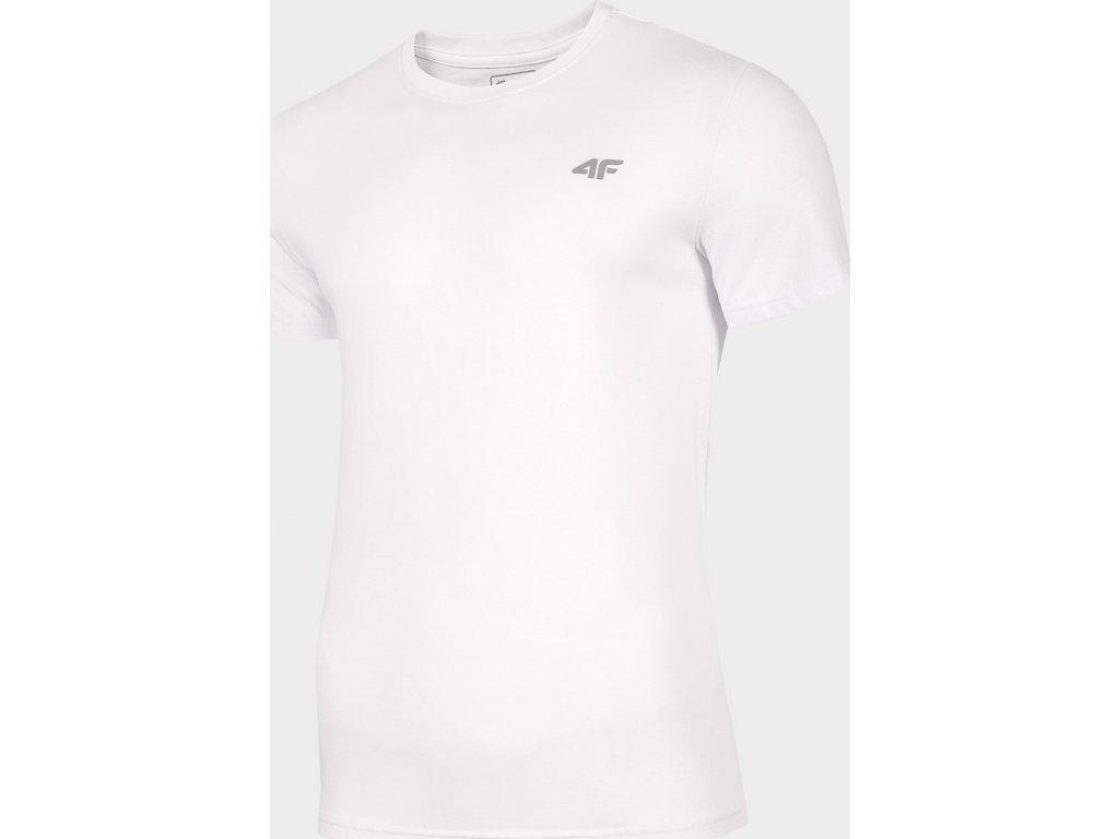 Pánské bavlněné tričko 4F TSM300 Bílé