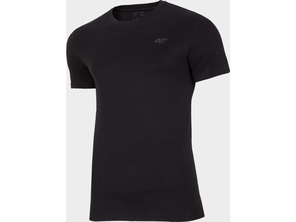 Pánské bavlněné tričko 4F TSM300 GŁĘBOKA Černé