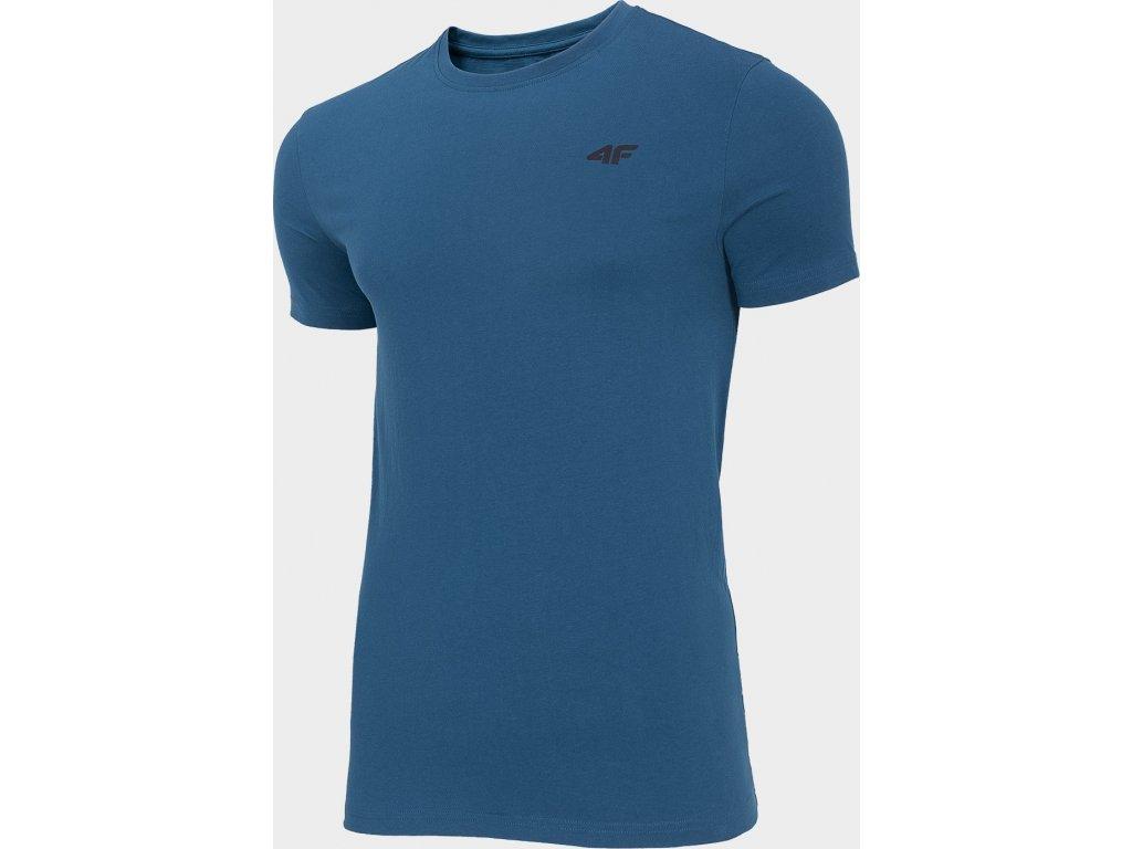 Pánské bavlněné tričko 4F TSM300 Modré Denim