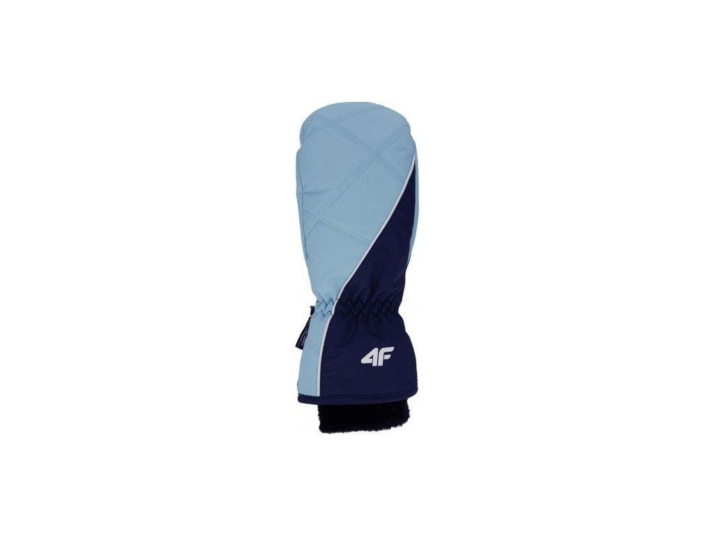 Dámské lyžařské rukavice 4F RED002 Světle modré