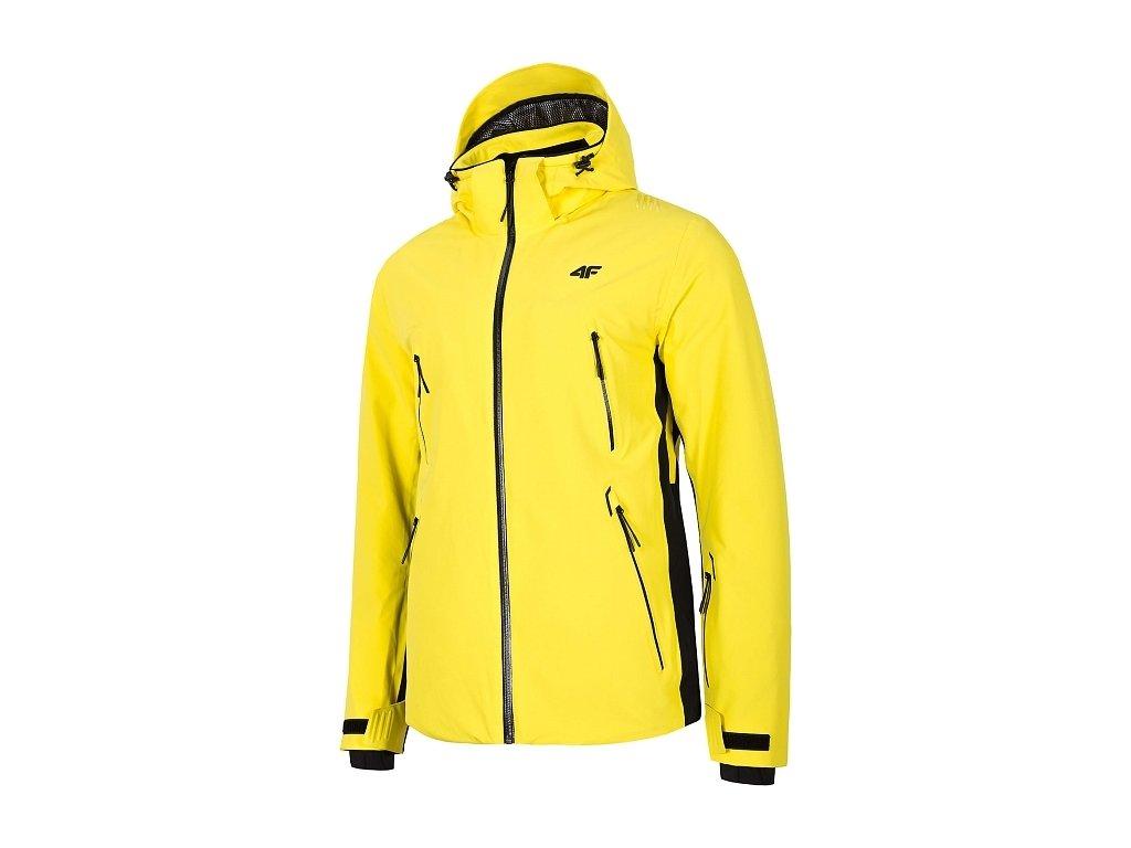 Pánska lyžiarska bunda 4F KUMN012 Žltá