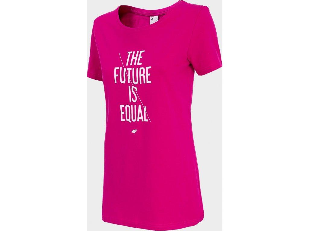 Dámske tričko 4F TSD007 Ružové