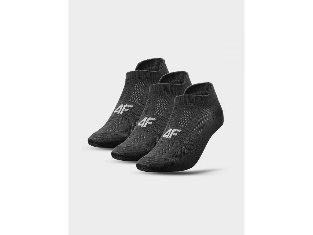 Dámské ponožky 4F SOD213 Černé (3 Páry)