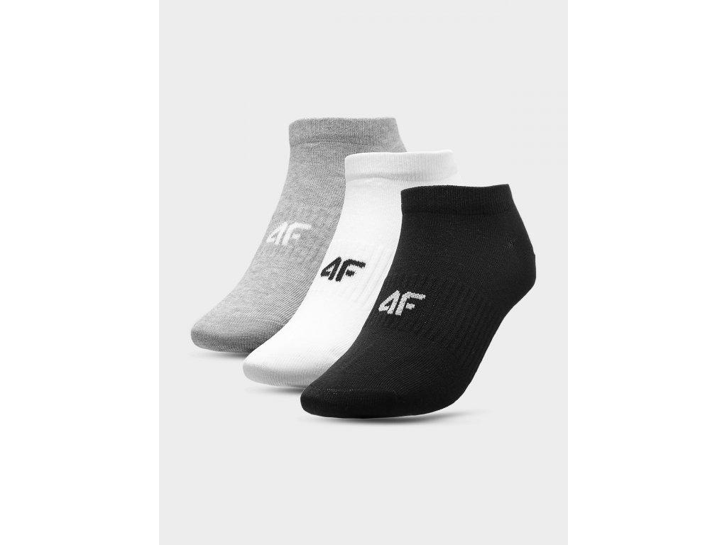 Dámské ponožky 4F SOD302 Šedé Bílé Černé (3 páry)