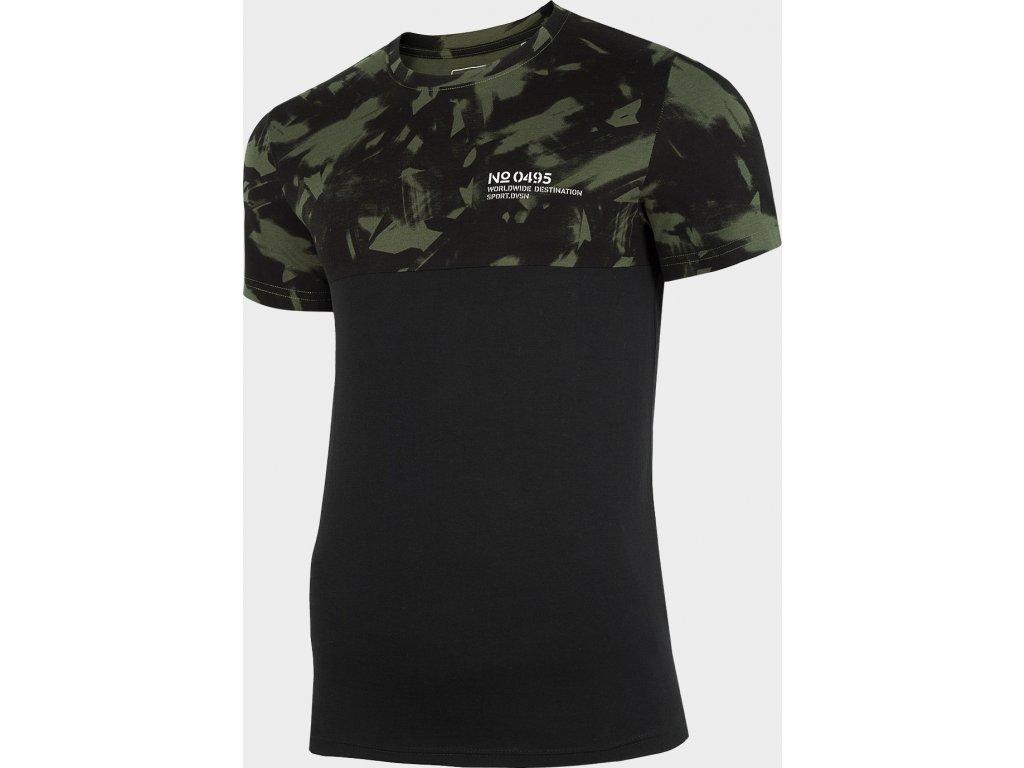 Pánské tričko 4F TSM249 Khaki