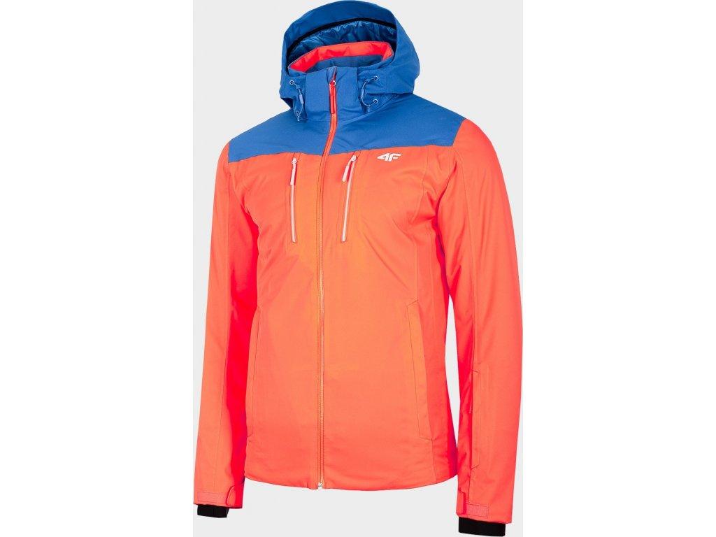 Pánska lyžiarska bunda 4F KUMN009 Oranžová