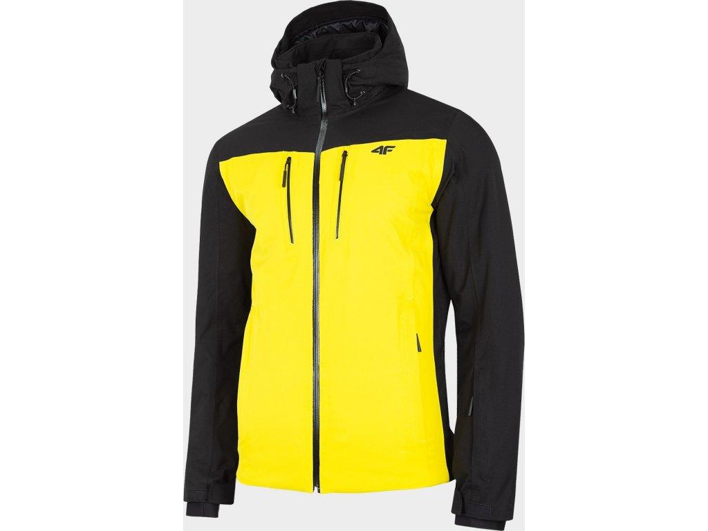 Pánska lyžiarska bunda 4F KUMN009 Žltá