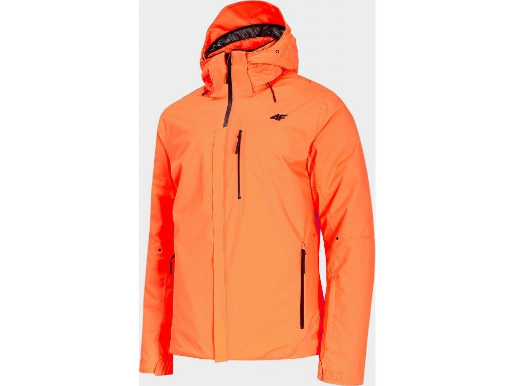 Pánska lyžiarska bunda 4F KUMN010 Oranžová neon