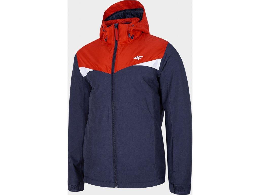 Pánská lyžařská bunda 4F KUMN071 Modrá/červená