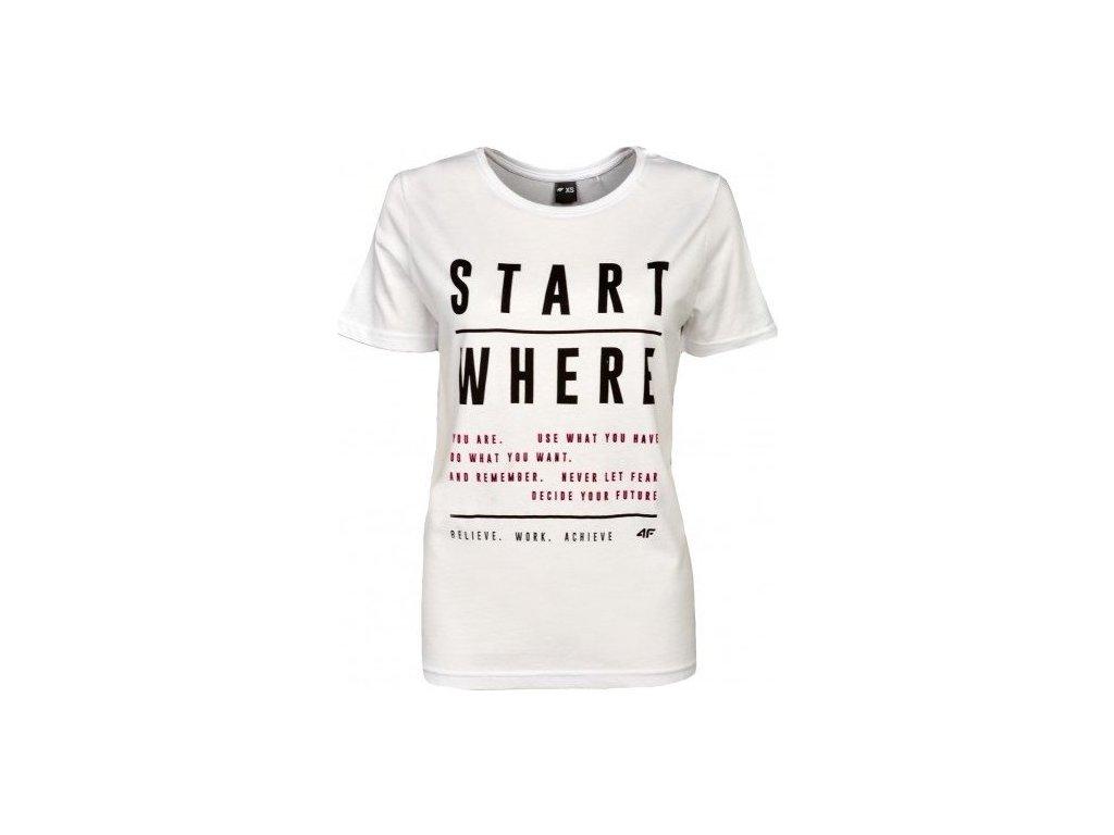 Dámske tričko 4F TSD009 Biele