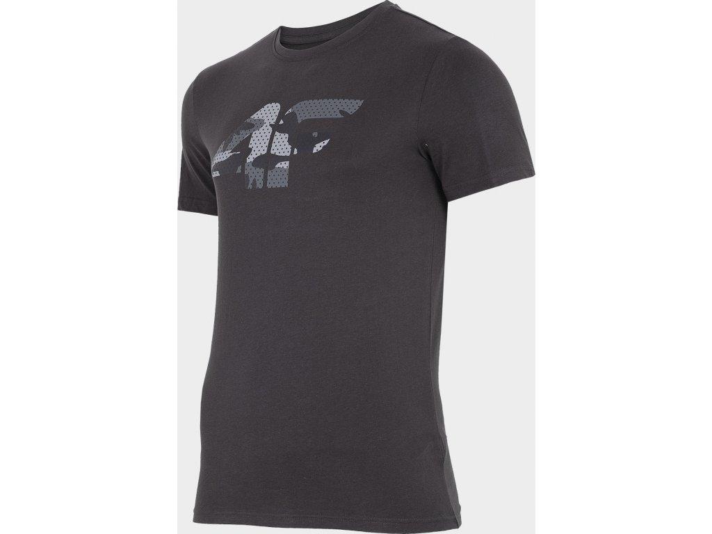 Pánské bavlněné tričko 4F TSM077 Tmavě šedé