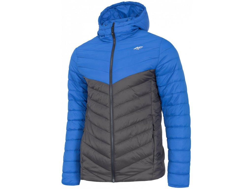 Pánska páperová bunda 4F KUMP303 Modrá