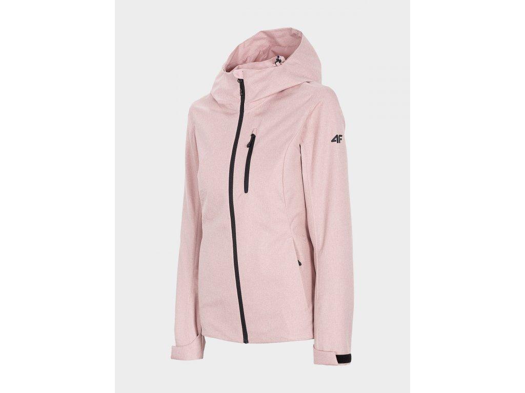 Dámská outdoorová bunda 4F KUD301 Světle růžová