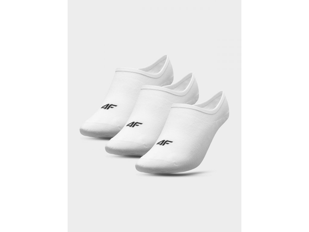 Dámské nízké ponožky 4F SOD301 Bílé (3páry)