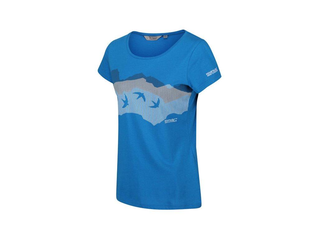Dámske tričko REGATTA RWT208 Breezed Modré