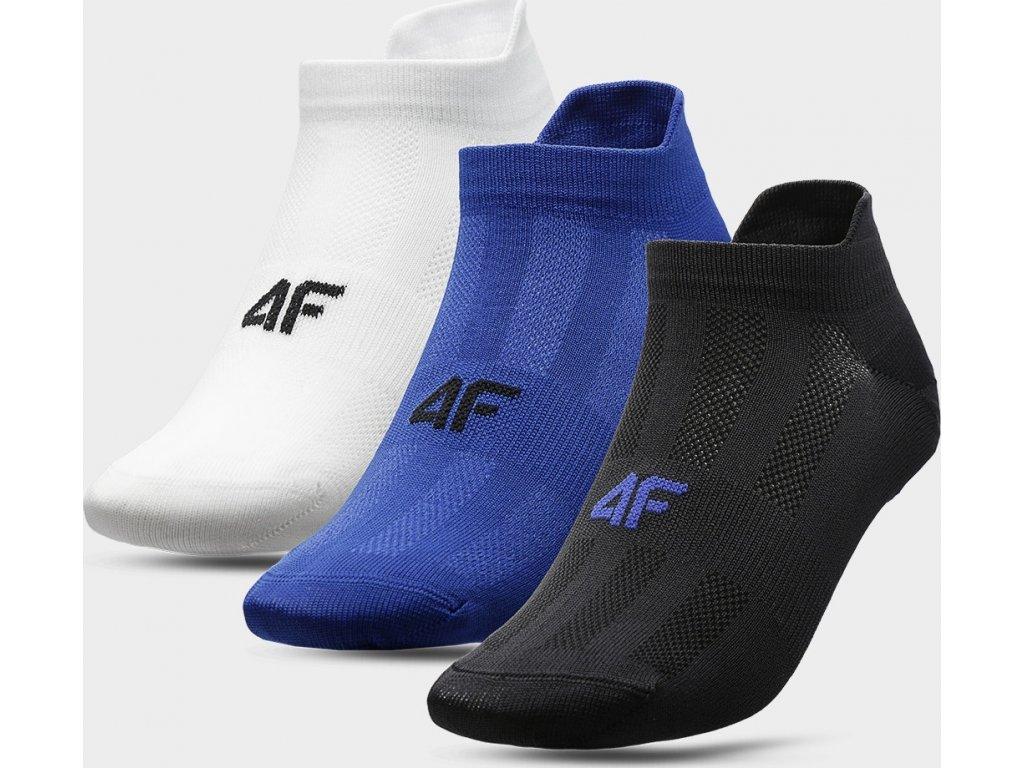 Pánske ponožky 4F SOM213 Biela modrá čierna (3páry)