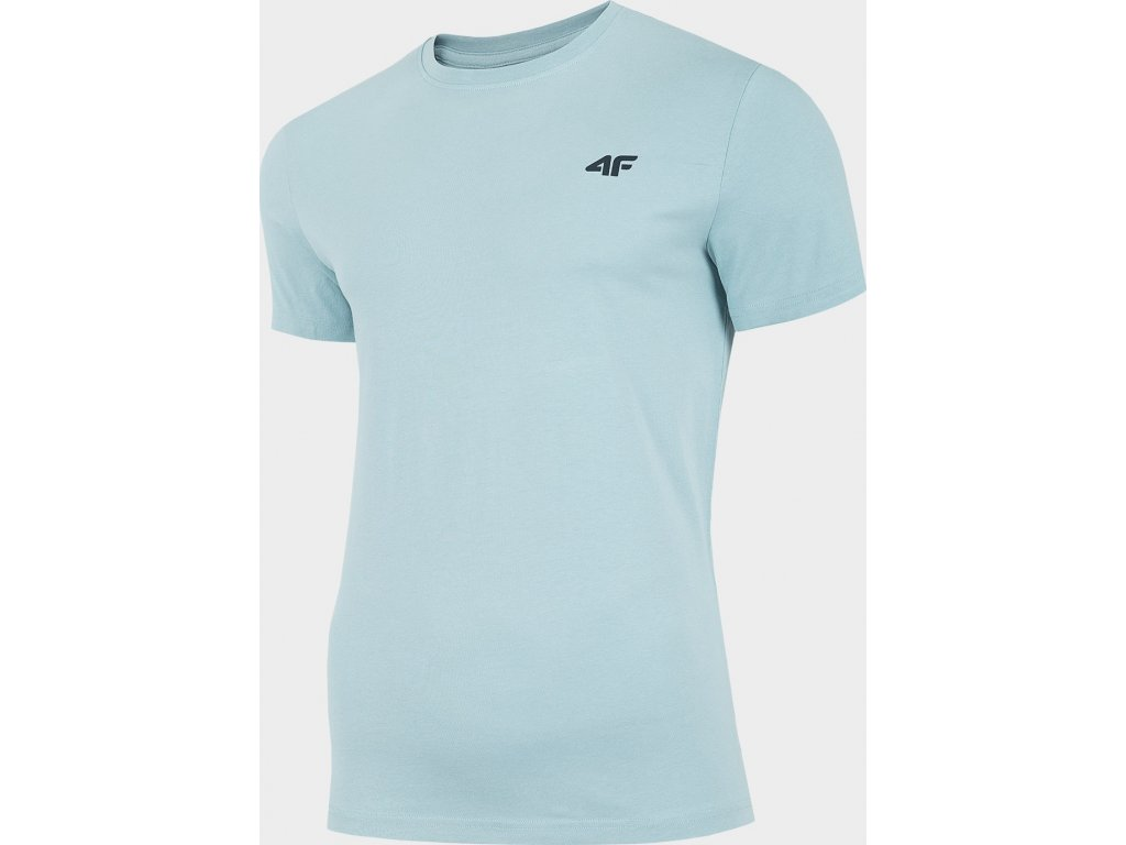 Pánské bavlněné tričko 4F TSM300 Světle modré