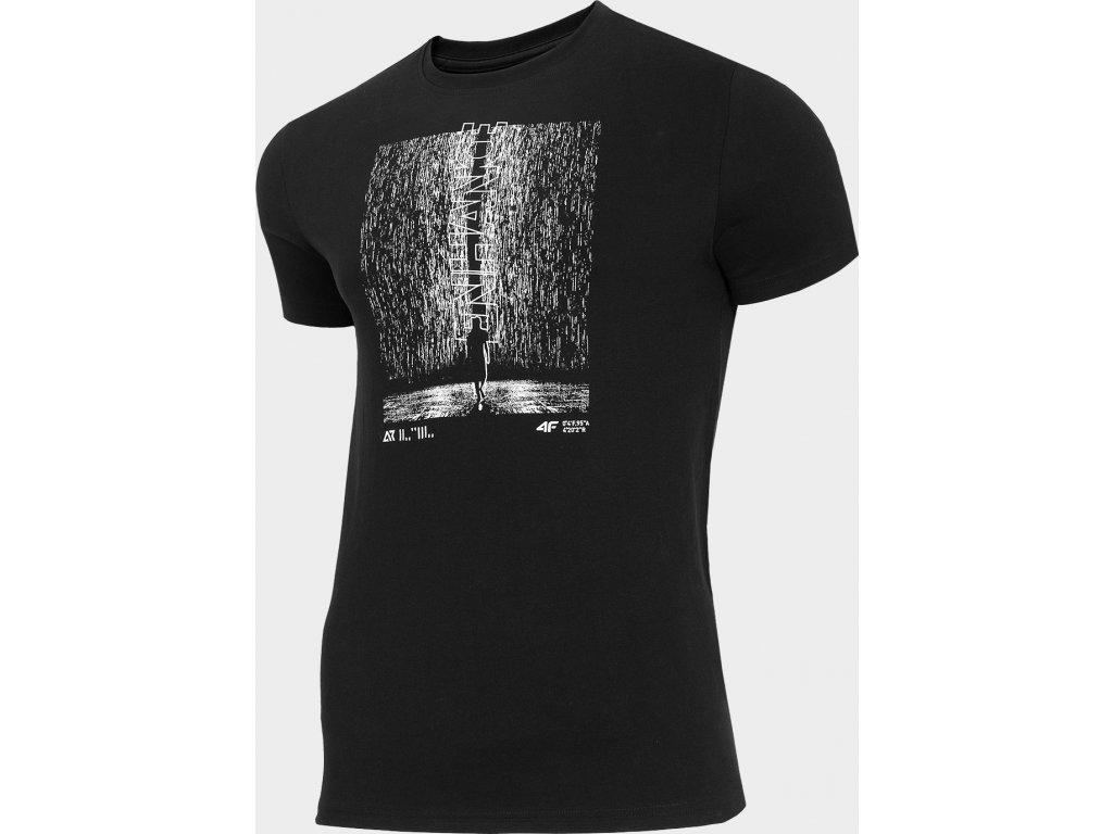 Pánské tričko 4F TSM214 Černé 2