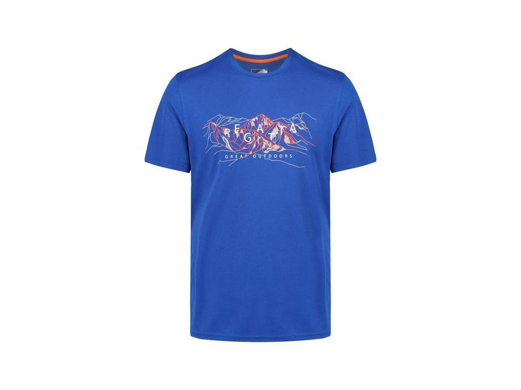 Pánské funkční tričko Regatta RMT88 Fingal IV modré