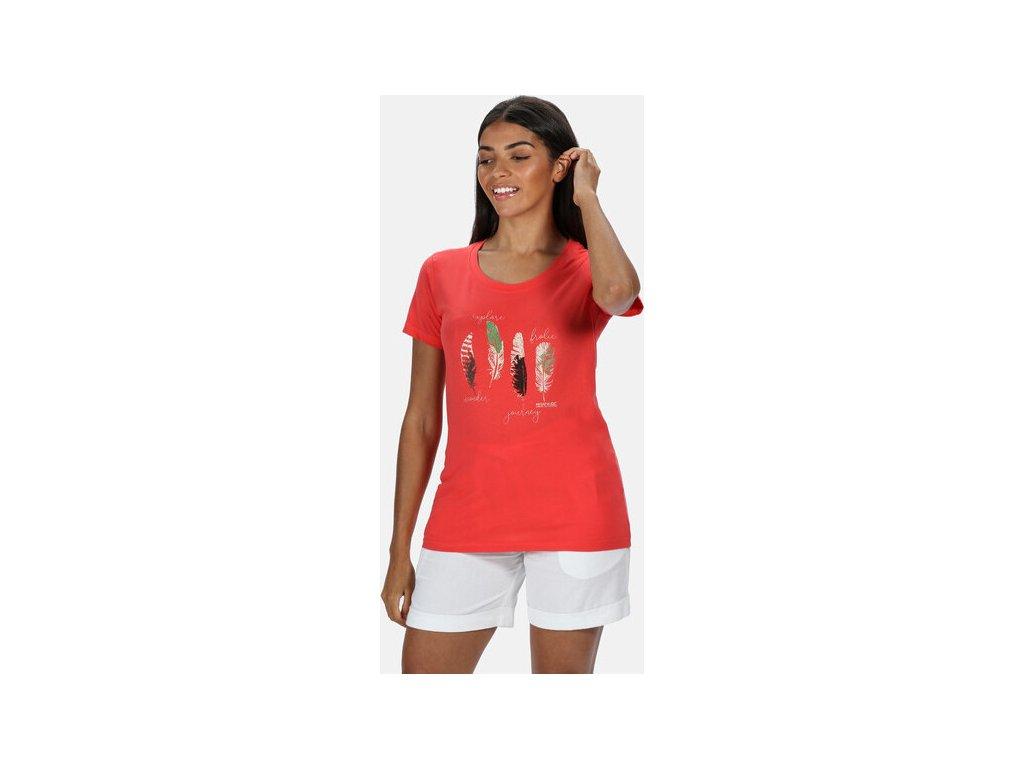 Dámske tričko REGATTA RWT190 Filandra IV Ružové