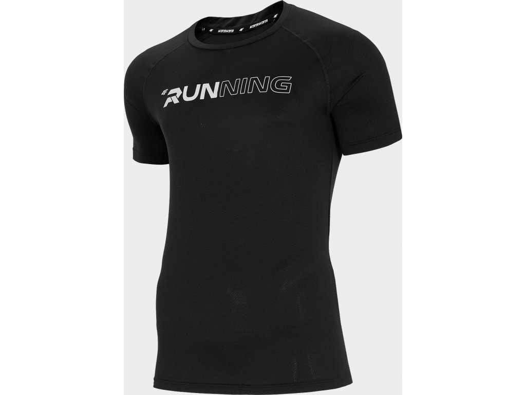 Pánské běžecké tričko 4F TSMF102 Černé