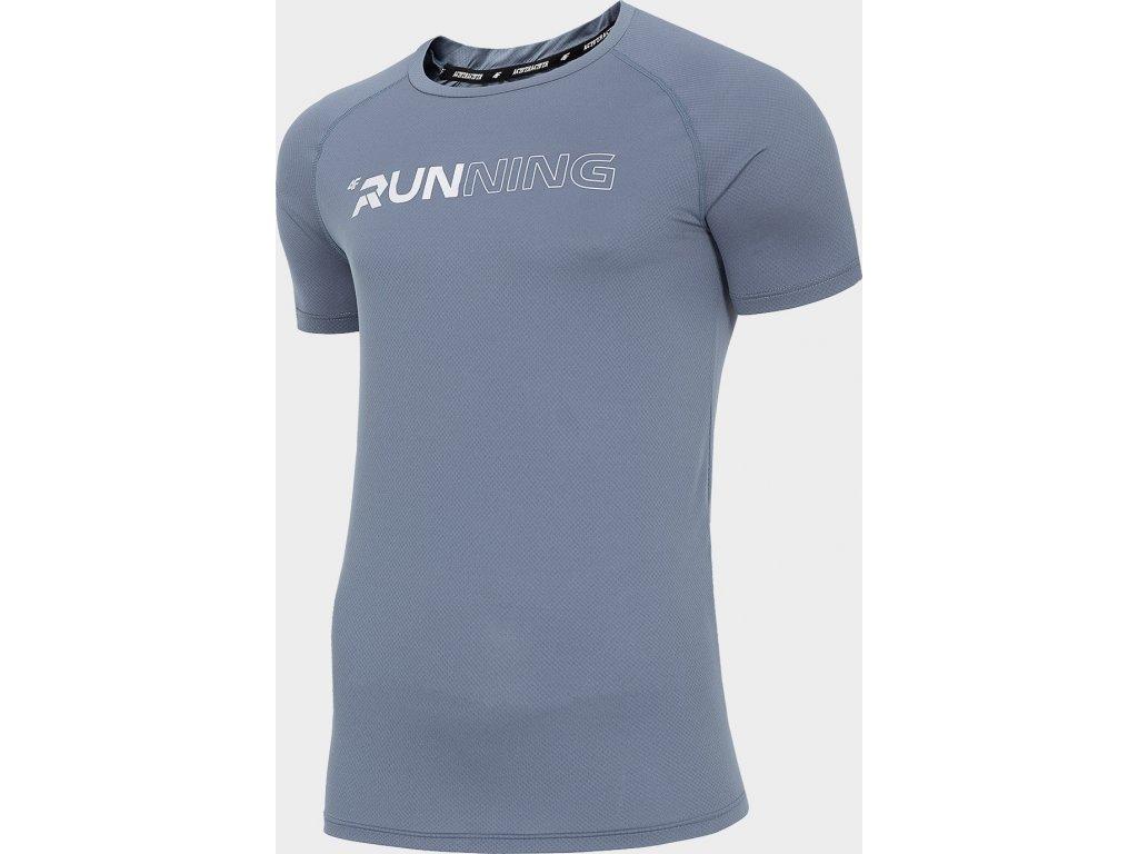 Pánské běžecké tričko 4F TSMF102 Šedé