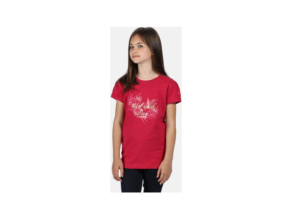 Detské tričko REGATTA RKT106 Bosley III Ružové