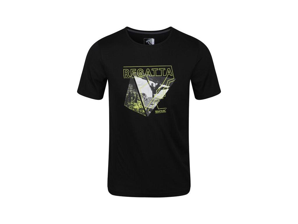 Pánské funkční tričko RMT216 REGATTA Fingal V Černé