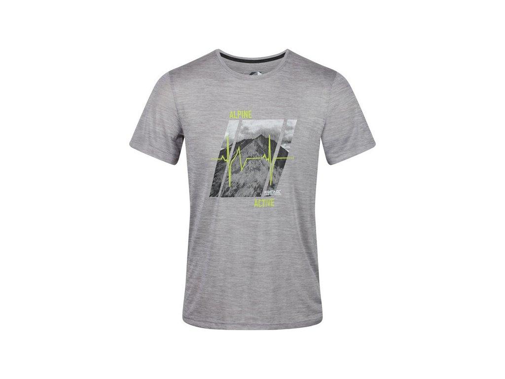 Pánské funkční tričko RMT216 REGATTA Fingal V Šedé
