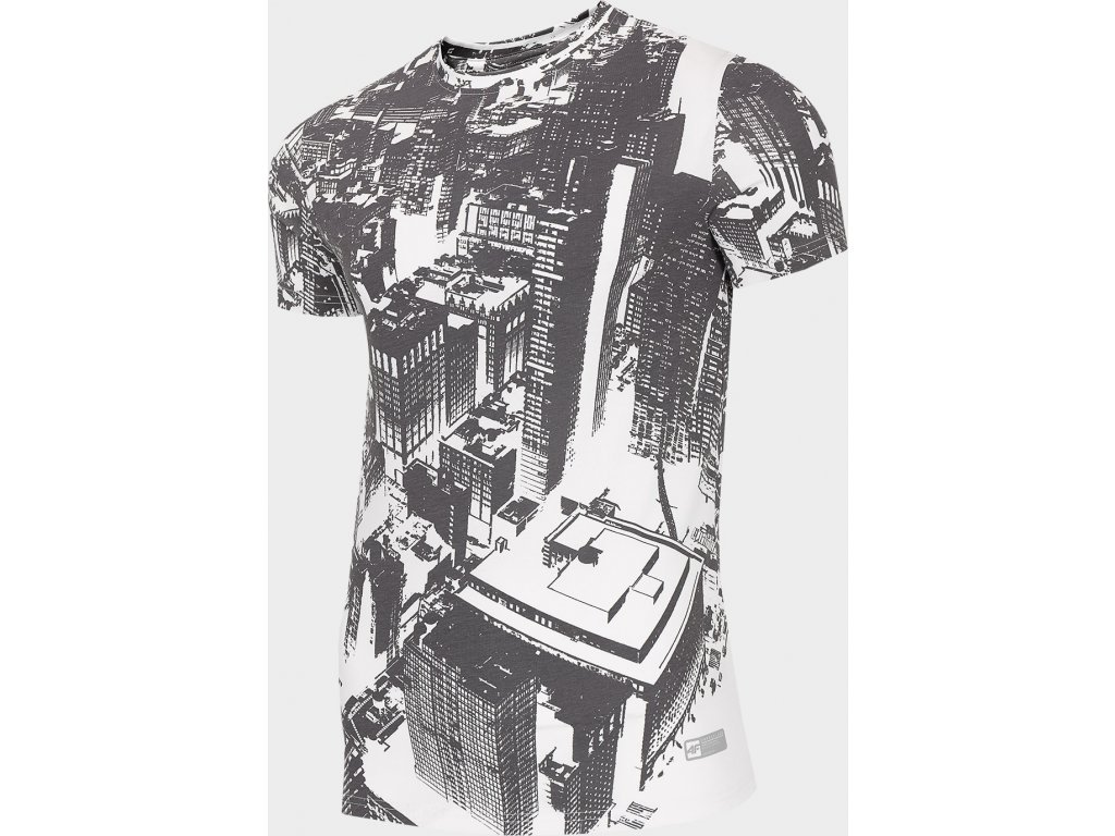 Pánské tričko 4F TSM206 Bílé allover