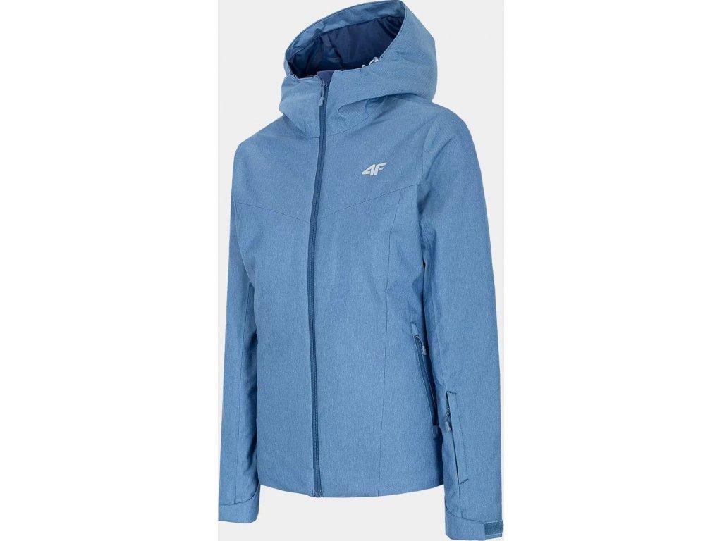 Dámska lyžiarska bunda 4F KUDN300 Modrá Denim