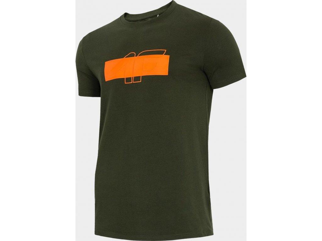 Pánske tričko 4F TSM244 Khaki
