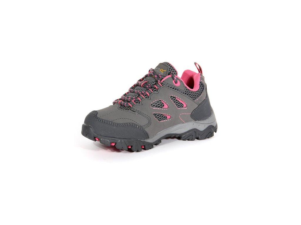 Dětská treková obuv Regatta RKF572 Holcombe Low Jnr II šedá 05