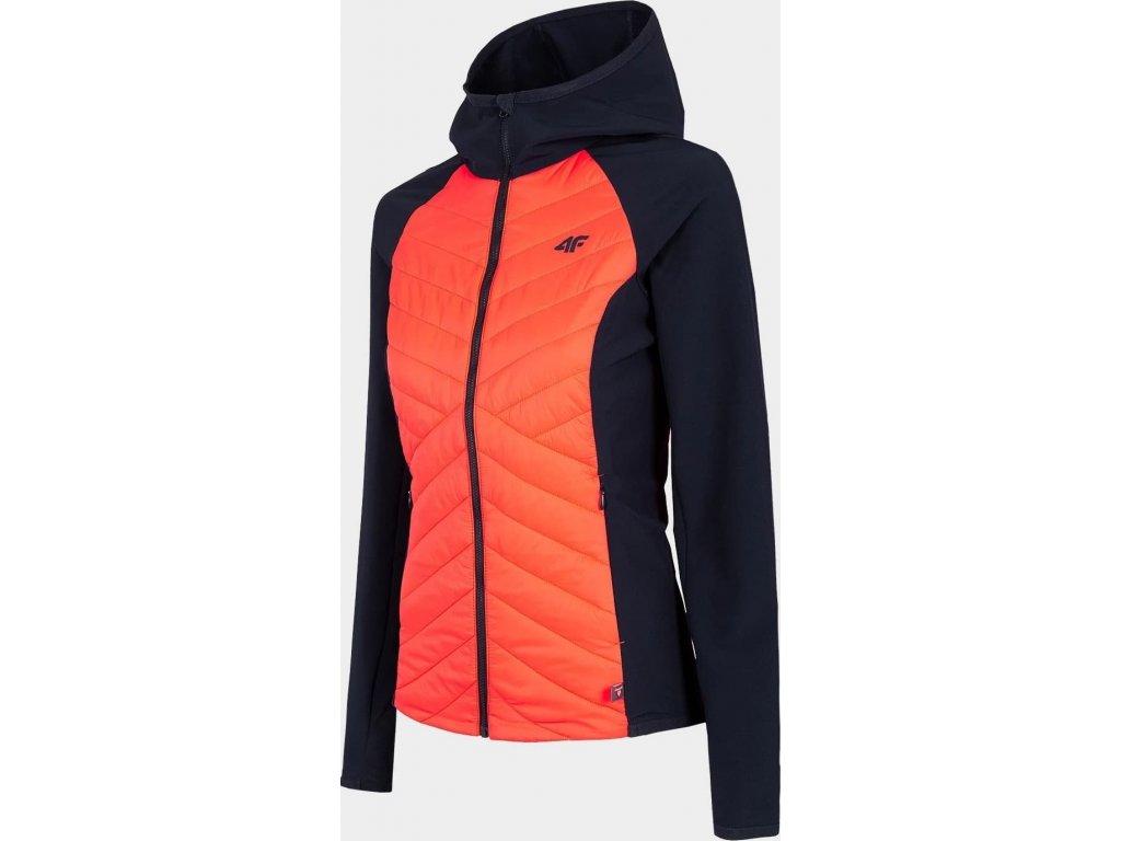 Dámska outdoorová bunda 4F KUDH060 lososoaý neon