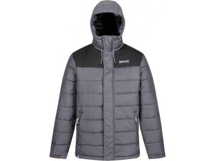 Pánska zimná bunda Regatta RMN137 Nevado III Šedá/Čierna