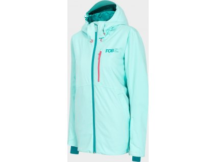 Dámska snowboardová bunda 4F KUDS203 Svetlo modrá