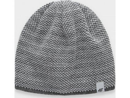 Pánska zimná čiapka 4F CAM156 Sivá