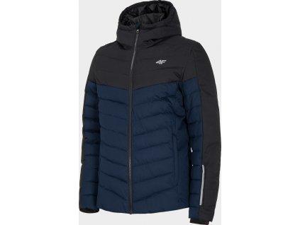Pánská péřová bunda KUMP205 Tmavě modrá