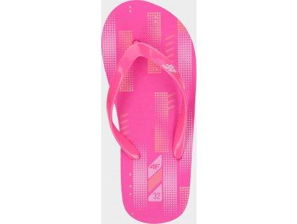 Dievčenské žabky 4F JKLD200 Ružové