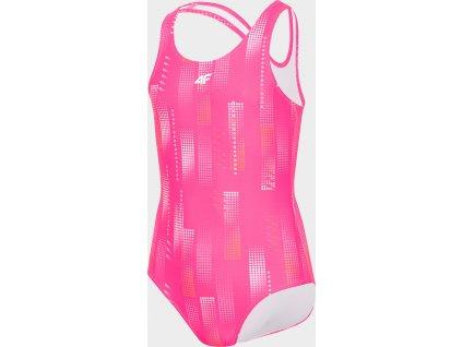 Dívčí plavky 4F JKOS200 Růžové