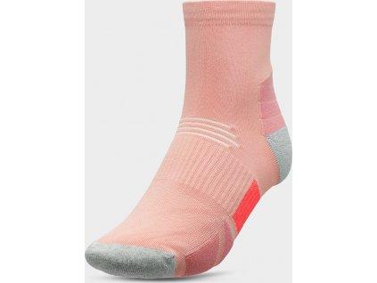 Dámske členkové ponožky 4F SOD207 Ružové