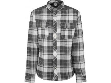 Pánská zateplená košile REGATA RMS113 Tyrion Šedá