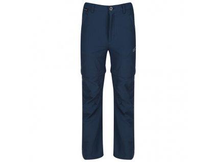 Dětské odepínací kalhoty RKJ097 REGATTA Hikefell Modré 03